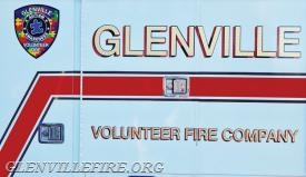 The Glenville Volunteer Fire Company is supporting Autism Awareness Month by joining the New Rochelle, N.Y. Police Department in the Autism Patch Challenge. The patch, in the upper left of the photo, was designed by New Rochelle Police Detective Chris Greco. (photo courtesy of the Glenville Volunteer Fire Company)