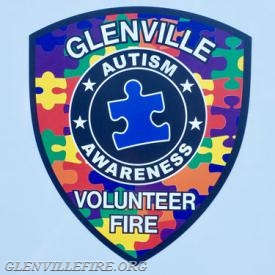 The Glenville Volunteer Fire Company is raising awareness and acceptance for autism by putting a patch on its vehicle throughout the month. (photo courtesy of the Glenville Volunteer Fire Company)