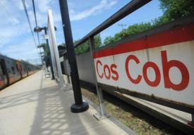 The Cos Cob Metro-North station in the Cos Cob section of Greenwich, Conn., photographed on Monday, June 19, 2017. A 17-year-old Greenwich High School student was struck and killed by a Metro-North train just after midnight Sunday, June 18, 2017 near the Cos Cob train station.