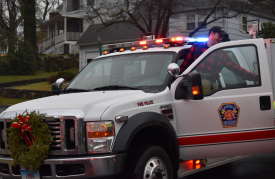 Glenville Volunteer Fire Co visited families in the community in full uniform along with Santa, music and candy canes. Dec 16, 2018 Photo: Heather Brown Lowthert