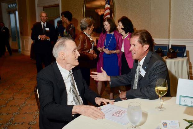 Peter Crumbine and former State Sen. Scott Frantz. (John Ferris Robben photo)