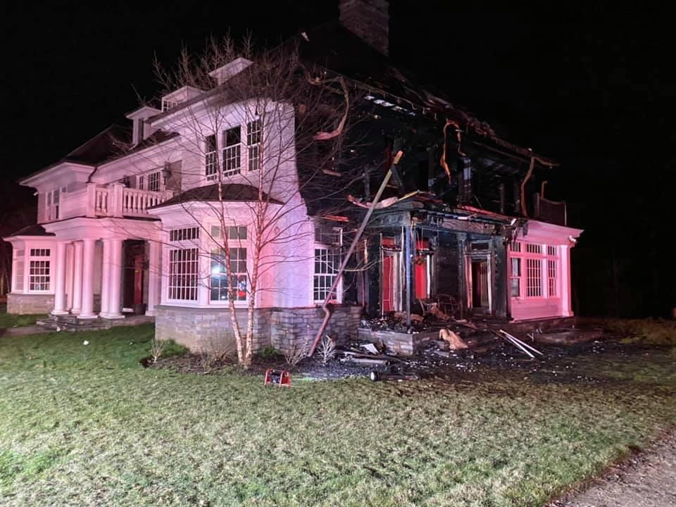 Fire caused extensive damage to a backcountry home Wednesday.  Greenwich Firefighters Union